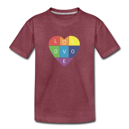 Rainbow Heart - Kids' Premium T-Shirt