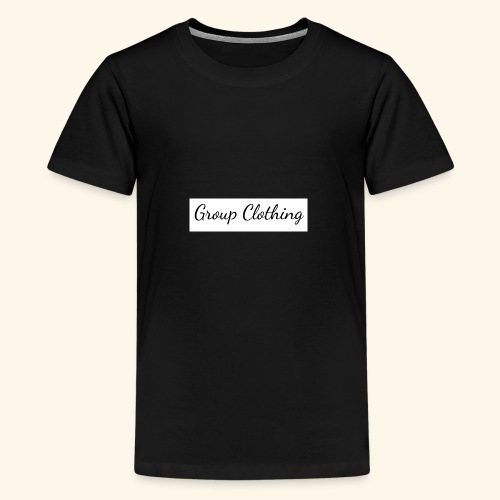Cursive Black and White Hoodie - Kids' Premium T-Shirt