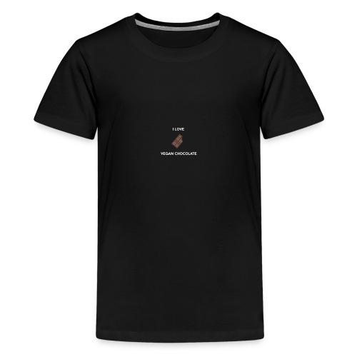 I LOVE VEGAN CHOCOLATE - Kids' Premium T-Shirt