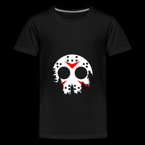 Haunted Halloween Hockey Mask - Kids' Premium T-Shirt