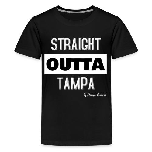 STRAIGHT OUTTA TAMPA WHITE - Kids' Premium T-Shirt