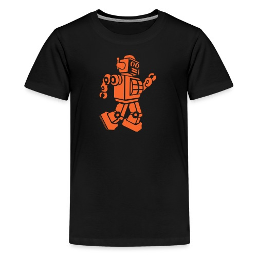 Dancing Robot #2 Orange - Kids' Premium T-Shirt