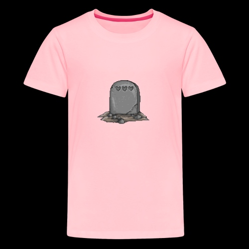 No Life Left | Funny Gamer Grave - Kids' Premium T-Shirt
