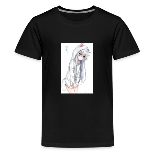 cute anime cat girl - Kids' Premium T-Shirt