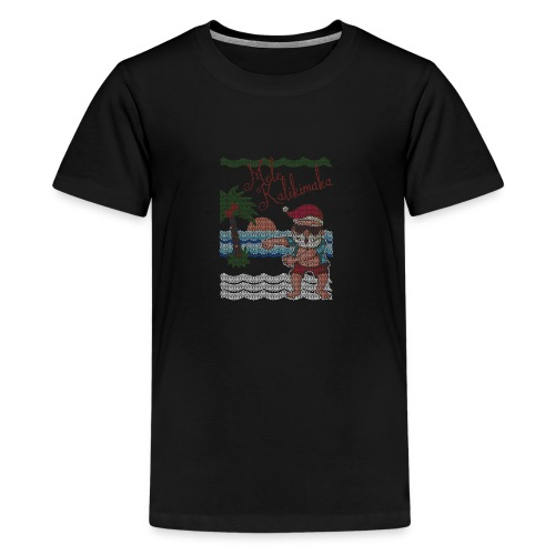 Ugly Christmas Sweater Hawaiian Dancing Santa - Kids' Premium T-Shirt