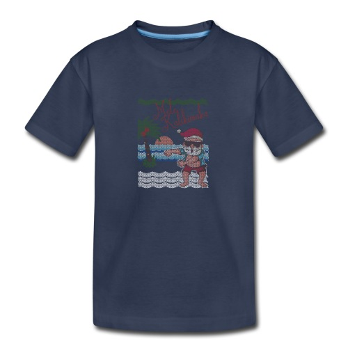 Ugly Christmas Sweater Hawaiian Dancing Santa - Kids' Premium T-Shirt