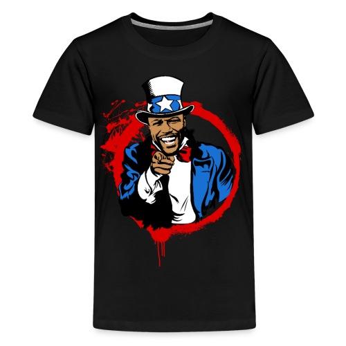 Floyd Mayweather Uncle Sam IRS Tax (Red Circle) - Kids' Premium T-Shirt