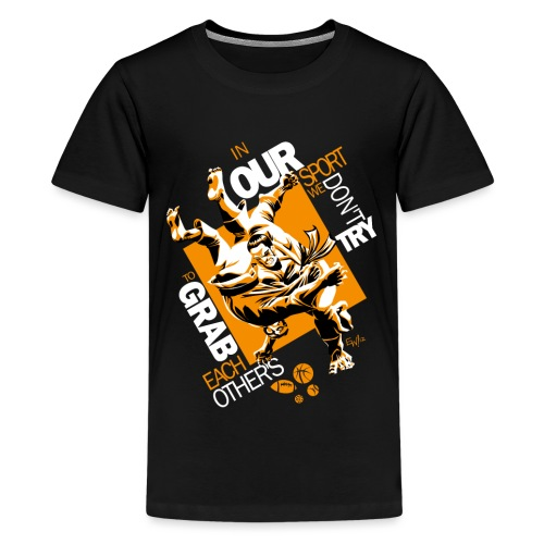 Judo Grab Design for dark shirts - Kids' Premium T-Shirt