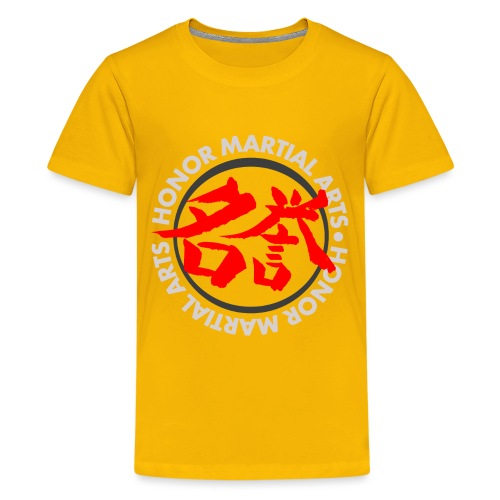 Honor Martial Arts Kanji Design Light Shirts - Kids' Premium T-Shirt