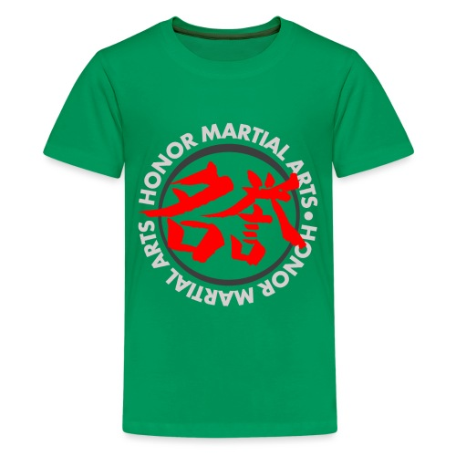 Honor Martial Arts Kanji Design Light Shirts - Kids' Premium T-Shirt