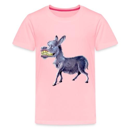 Funny Keep Smiling Donkey - Kids' Premium T-Shirt