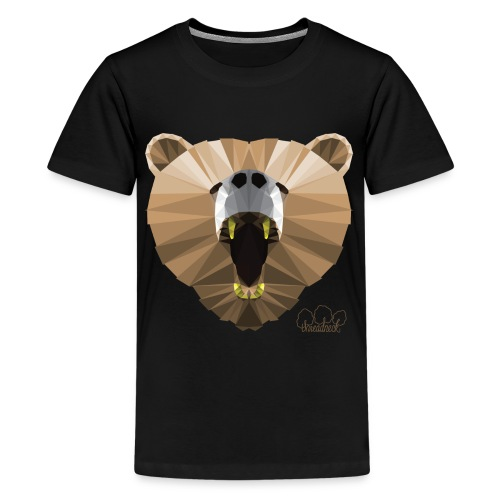 Hungry Bear Women's V-Neck T-Shirt - Kids' Premium T-Shirt