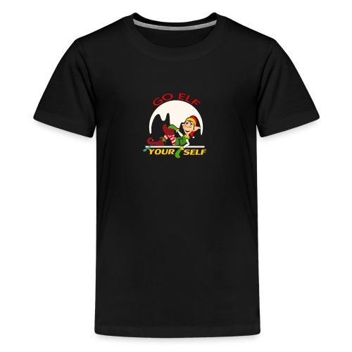 Go Elf Your self mery cristmas - Kids' Premium T-Shirt