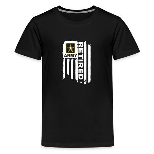 UNITED STATES ARMY FLAG RETIRED - Kids' Premium T-Shirt