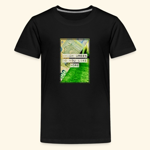 100€ vs green - Kids' Premium T-Shirt