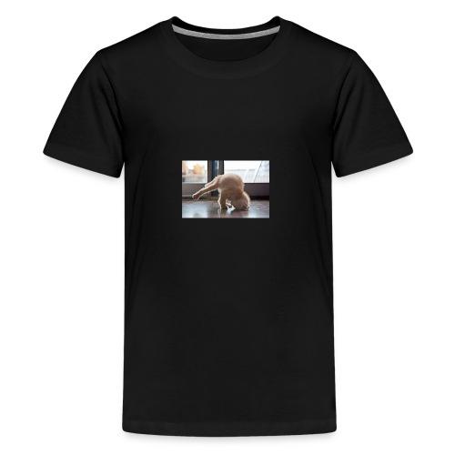 funny animals doing yoga - Kids' Premium T-Shirt