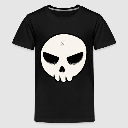 Skull Streetart Halloween cross bones - Kids' Premium T-Shirt