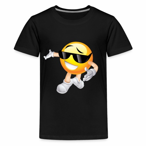 Cool Smiling Face with Sunglasses - Kids' Premium T-Shirt