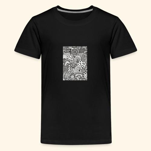 Black and white tigerprint - Kids' Premium T-Shirt