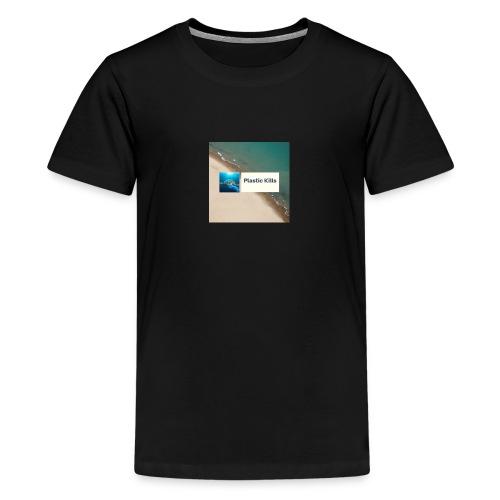Plastic Kills Logo - Kids' Premium T-Shirt
