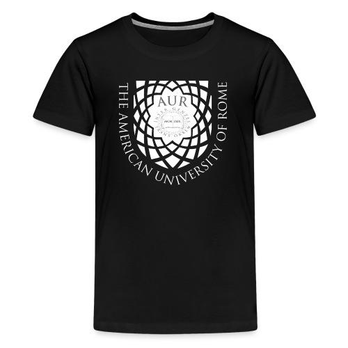 AUR Crest Logo White - Kids' Premium T-Shirt