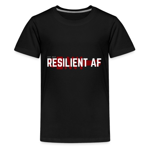 RESILIENT WHITE with red - Kids' Premium T-Shirt