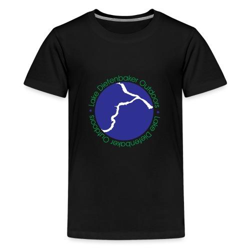 LAKE DIEFENBAKER OUTDOORS - Kids' Premium T-Shirt