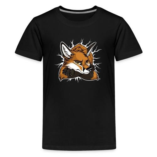 STUCK grumpy Fox Red (double-sided) - Kids' Premium T-Shirt