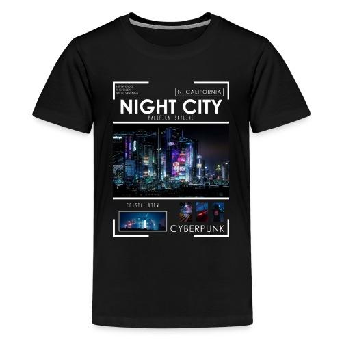 Night City Pacifica Skyline - Kids' Premium T-Shirt