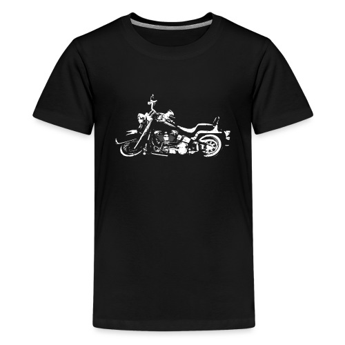 Classic American Motorcycle Abstract - Kids' Premium T-Shirt