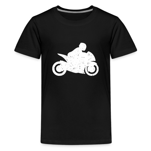 Super Sport Bike Motorcycle Rider Distressed - Kids' Premium T-Shirt