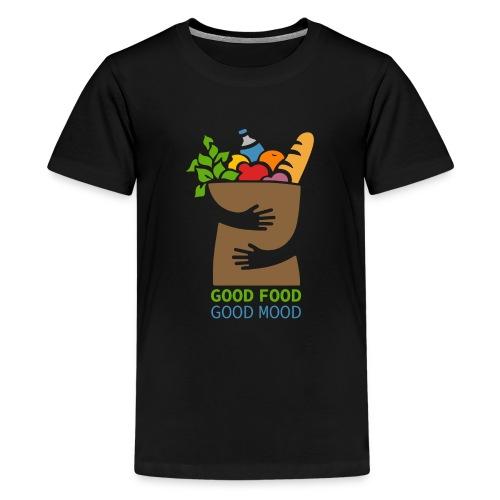 Good Food Good Mood | Minimal Colorful Food Design - Kids' Premium T-Shirt