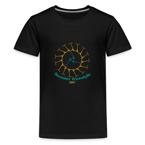 Circle of freestyle scooter - Kids' Premium T-Shirt