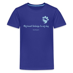 RescueDogs101 My heart belongs to my dog - Kids' Premium T-Shirt