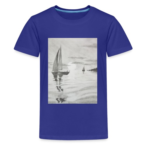 Boat At Sea - Kids' Premium T-Shirt