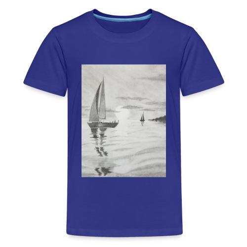 Boat At Sea - Kids' Premium T-Shirt