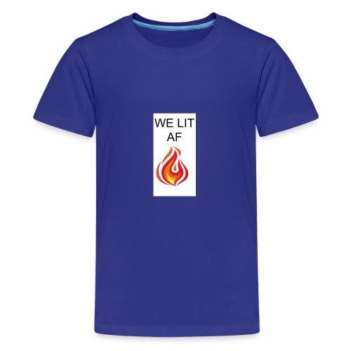 WE LIT AF BRAND - Kids' Premium T-Shirt