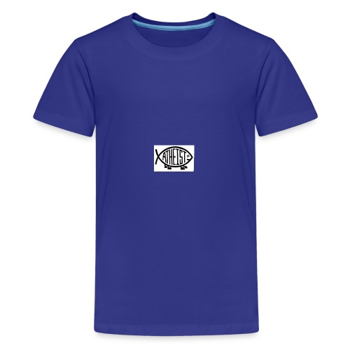 atheist fish web - Kids' Premium T-Shirt