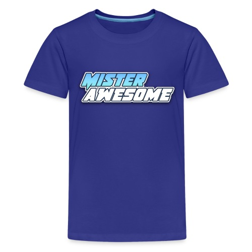 Mister Awesome logo - Kids' Premium T-Shirt