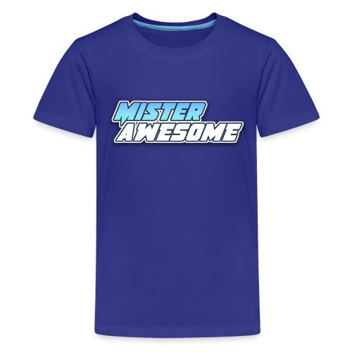 Mister Awesome logo - Kids' Premium T-Shirt