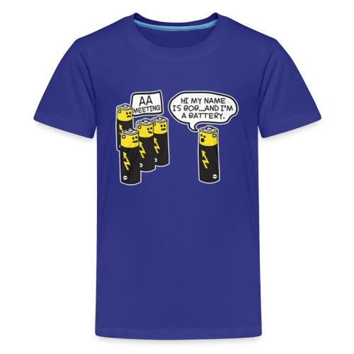 AA BATTERY FUNNY - Kids' Premium T-Shirt