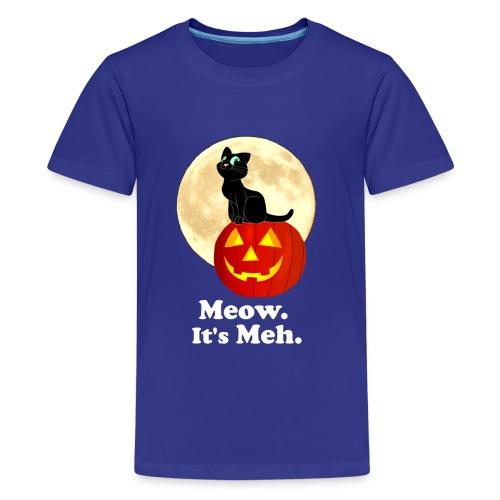 Black Cat Pumpkin Funny Halloween Gifts Ideas - Kids' Premium T-Shirt