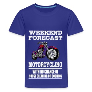 Weekend Forecast Motorcycling Motorcycle - Kids' Premium T-Shirt