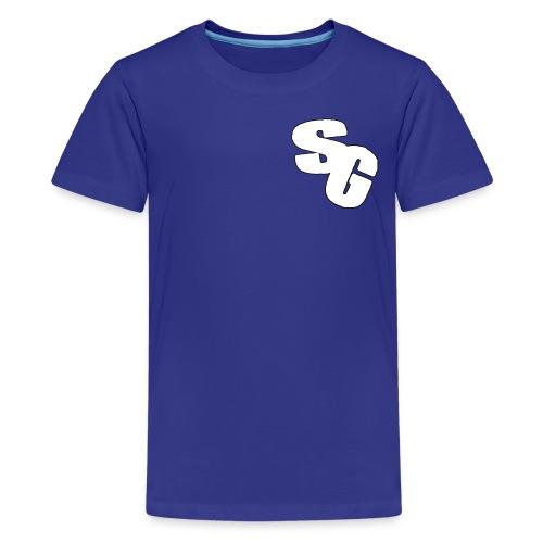 ShortyGamez White And Black LOGO - Kids' Premium T-Shirt