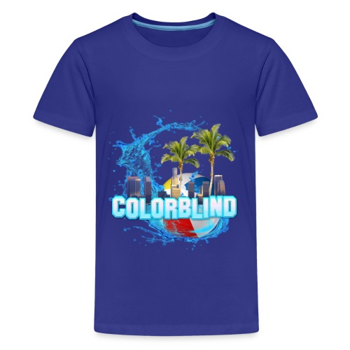 COLORBLIND - Beach Party - Kids' Premium T-Shirt