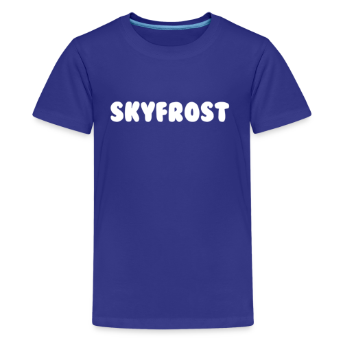 SkyFrost White Text - Kids' Premium T-Shirt