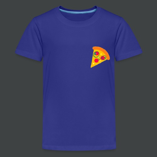 Cartoony Pizza Logo - Kids' Premium T-Shirt