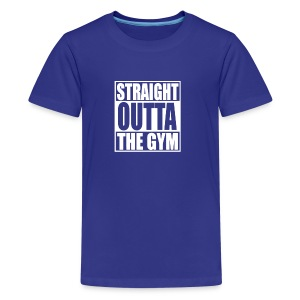 STRAIGHT OUTTA THE GYM HUMOUR LOGO - Kids' Premium T-Shirt