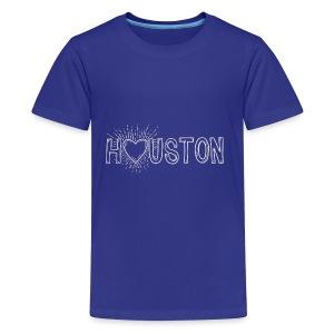 My Heart is With Houston - Kids' Premium T-Shirt