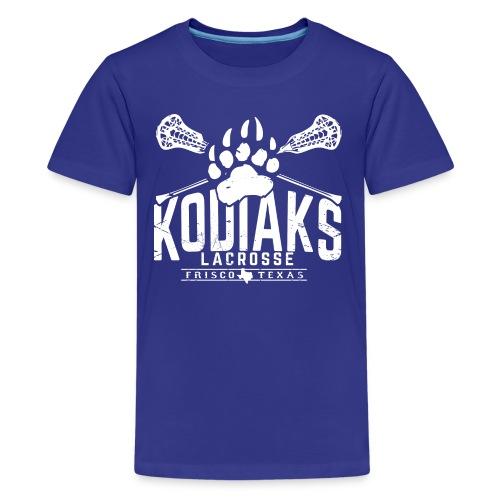 Kodiaks Lacrosse 2018 white - Kids' Premium T-Shirt